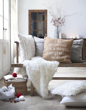 A cozy sofa