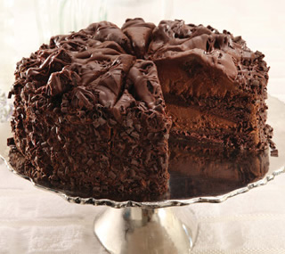 Sweet soft chocolate cake