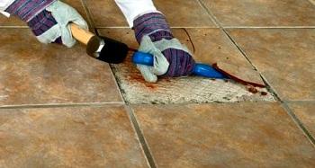 Floor Tile Repair fix a floor how to repair loose hollow tiles How To Replace A Broken Ceramic Tile