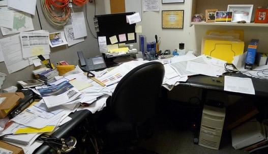 clean office desk