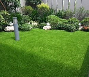 Artificial Grass With A Natural Garden